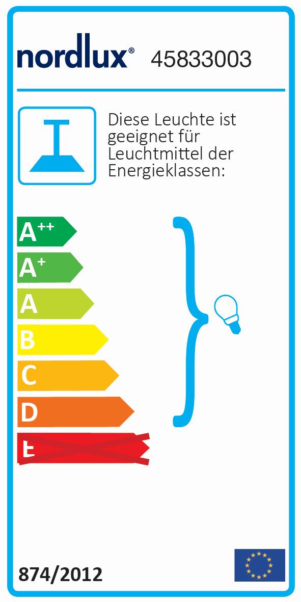 60 Watt Pendelleuchte Nordlux 45833001 Pop Schwarz E27 Esstischbeleuchtung max