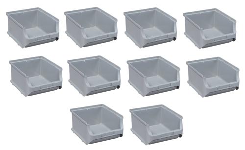 10x Stapelbox Gr. 2B Grau ProfiPlus Box 2 B Allit 456244 Sichtlagerbox