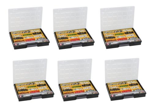 Sortimentskasten 6 Stück EuroPlus Flex 37-13 Allit 457201