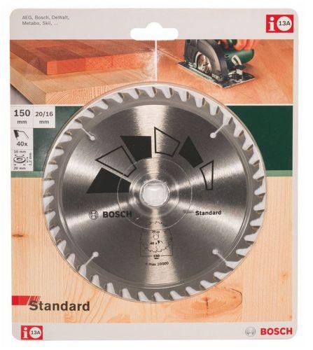 Bosch HM Kreissägeblatt 150 x 20/16mm 40 Z Kreissägeblätter 2609256807