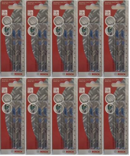 Bosch 20x Stichsägeblätter T118BF T-Schaft BiM Metall 2609258734