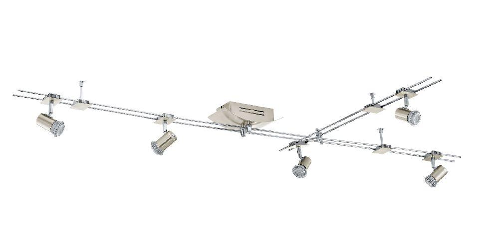 led deckenleuchte 5er spot eglo boltana 93027 strahler schienensystem flurlampe ebay. Black Bedroom Furniture Sets. Home Design Ideas