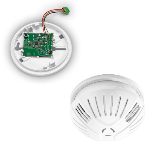 Rauchmelder + Funkmodul Feuermelder GEV Flammex FMR 3026 + FMF 3545