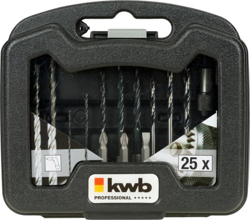 25 tlg. Bit und Bohrer Satz KWB 109025
