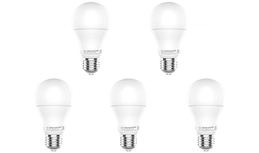 LED Leuchtmittel Set 5x E27 Ledino Glühbirne 9 Watt Lampe 5er Pack