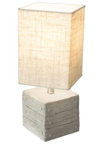 Tischleuchte Nino Lisco 50560168 Beistelllampe Schnurzwischenschalter E14 Beton