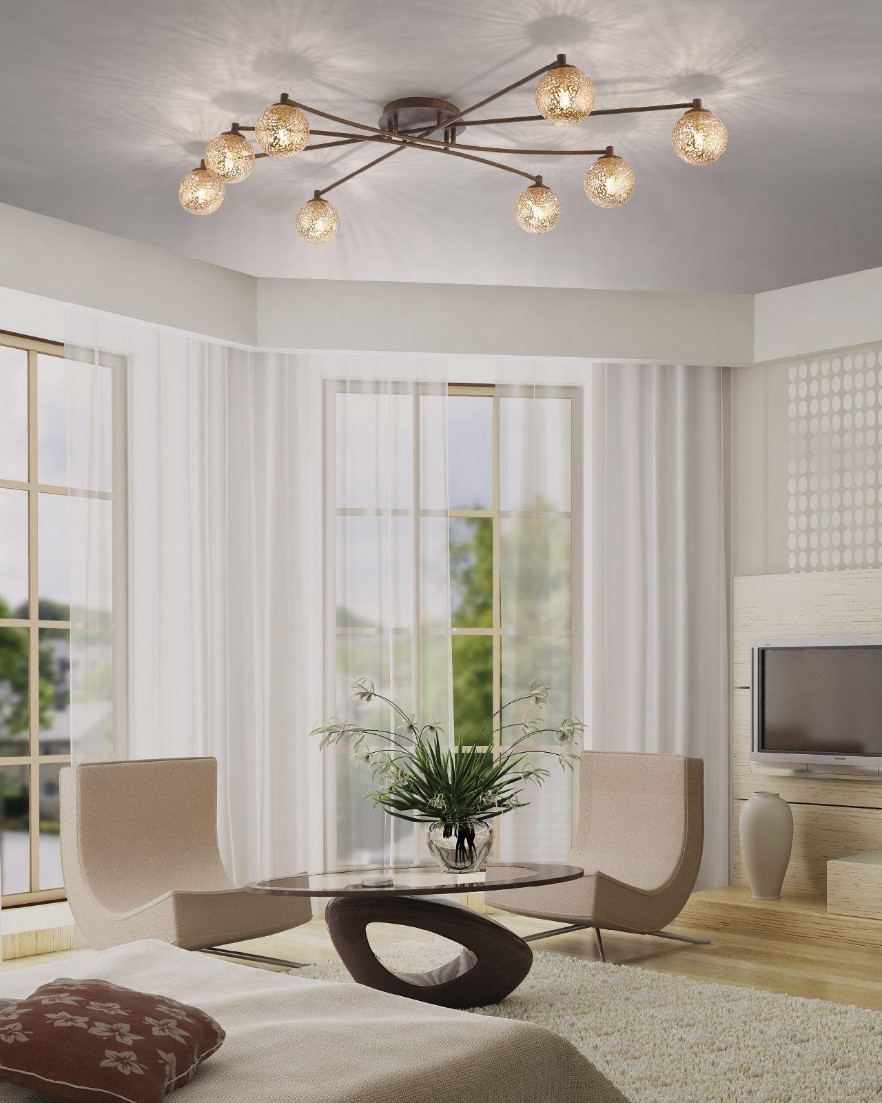 deckenleuchte paul neuhaus greta 6225 48 wohnraumlampe 8x 40 watt g9 4012248291337 ebay. Black Bedroom Furniture Sets. Home Design Ideas