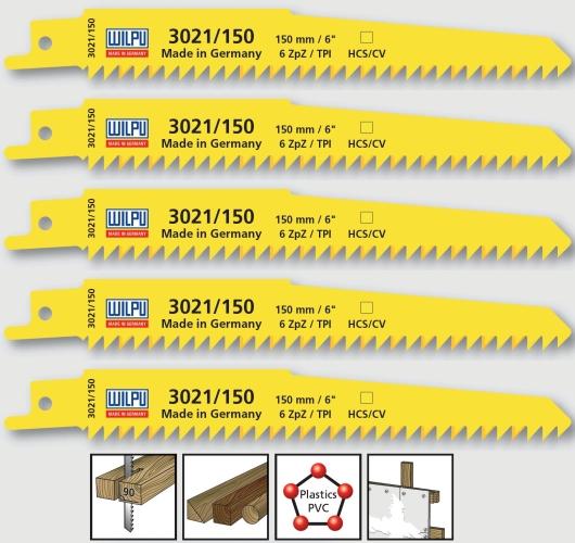 5x Säbelsägeblätter HCS / CV Wilpu 3021/150