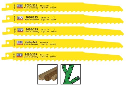 5x Säbelsägeblätter HCS / CV Wilpu 3030/225