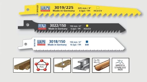 3 tlg. Säbelsägeblätter Set Bi-Metall / HCS Wilpu Set
